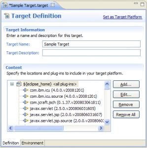 PDE Target Editor