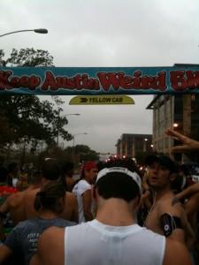 Keep Austin Weird 5k Start Line