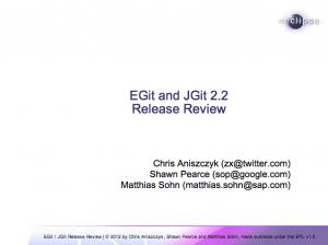 EGit JGit 2.2